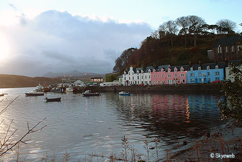 Portree Harbour at dawn